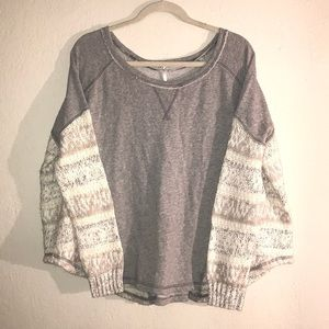 Free People grey oversized sweatshirt